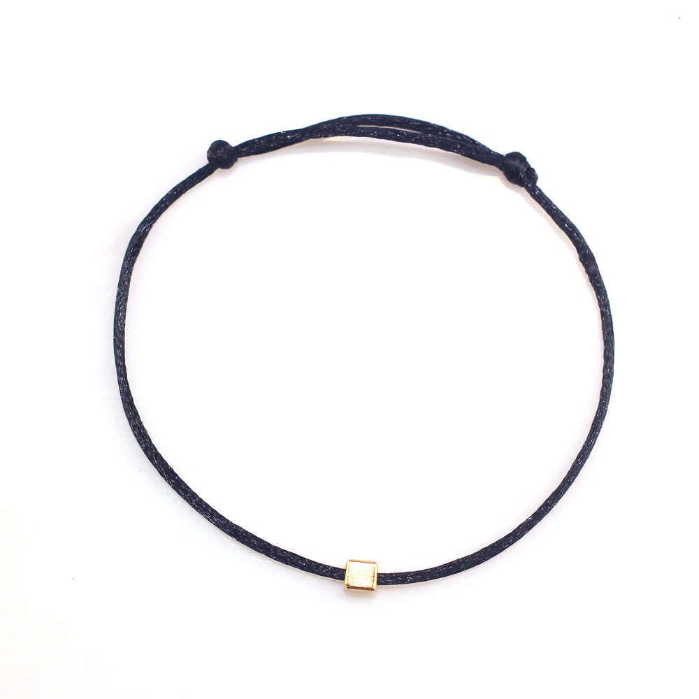 2018 Hot Lucky Golden Cross Heart Bracelet For Women Children Black String Adjustable Handmade Bracelet friendship DIY Jewelry