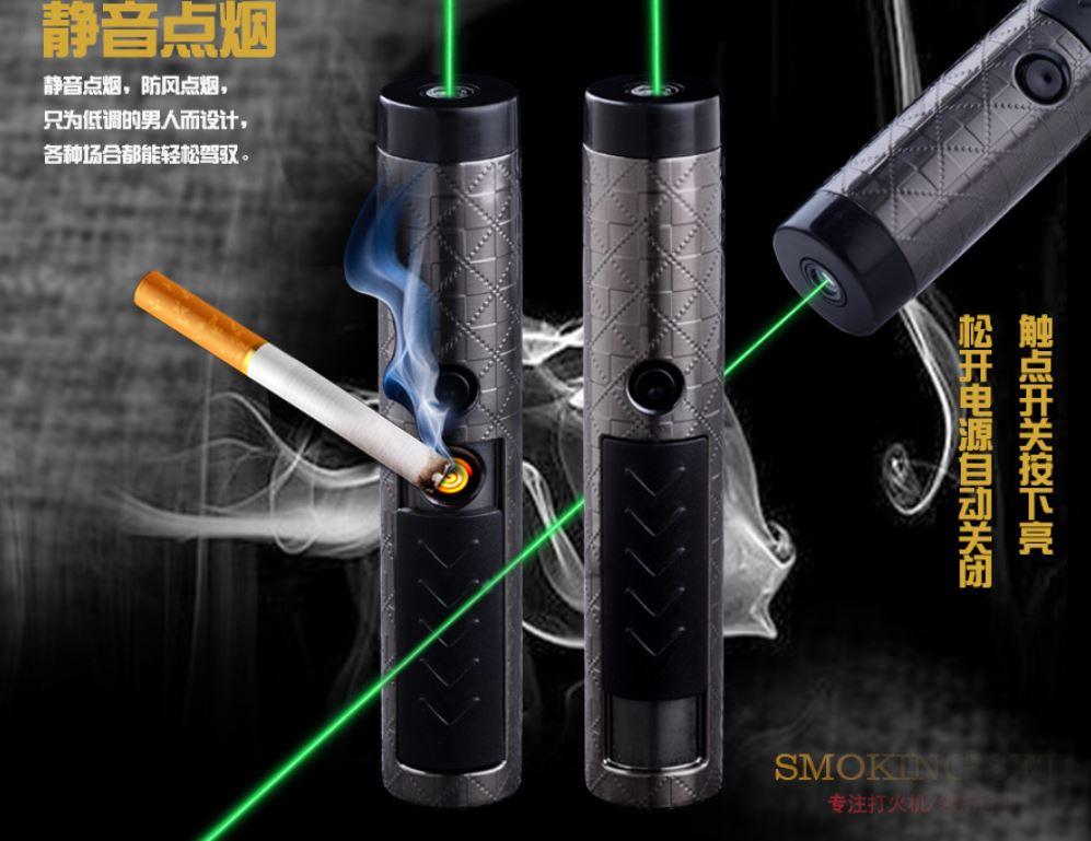Laser Lighter Men s Girl s Gift Mini Cigarette Lighter USB Rechargeable Flameless Electric Arc Windproof