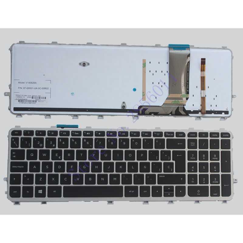 Spanish Laptop keyboards for HP envy 15-J 15T-J 15Z-J 15-J000 15t-j000 15z-j000 15-j151sr SP with frame with backlight keyboard 720566 501 720566 001 for hp envy 15 15t j000 15t j100 motherboard geforce gt740m 2gb ddr3l