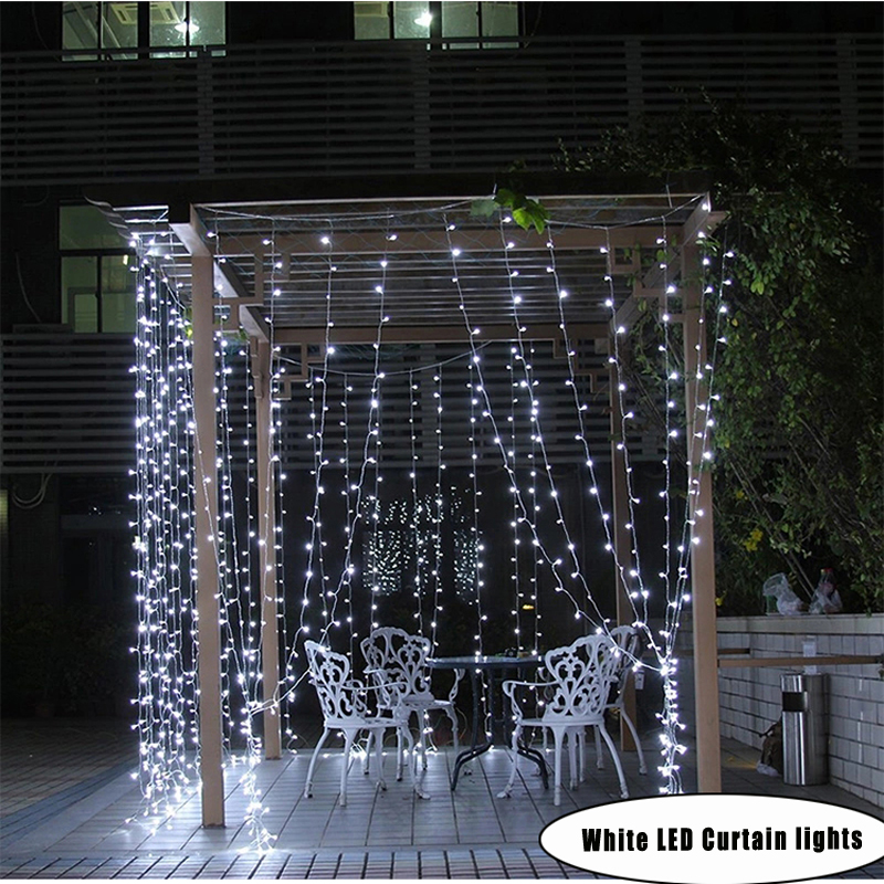 8 * 3m 800 Bulbs LED luces de navidad Curtain lights christmas string light Garland new year holiday party wedding decorations trigger point self massage stick body back massager abs unisex pain relief stick relaxing knock hammer green fe 8