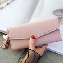 Tassel Heart-Shaped Long Wallet