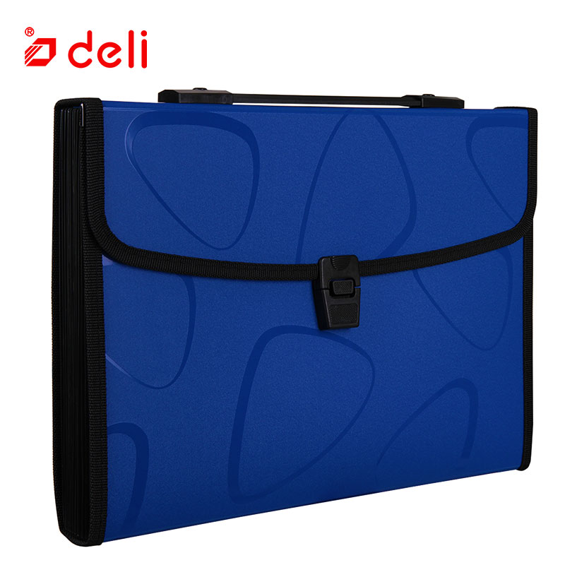 Image 3 - Deli A4 Size Folder Document Bag Expandable Filing Storage Document File Folder Organizer Expander Holder Bag Business Briefcase-in File Folder from Office & School Supplies