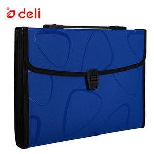 Image 3 - 델리 a4 크기 폴더 문서 가방 확장 파일링 스토리지 문서 파일 폴더 주최자 확장기 홀더 가방 비즈니스 서류 가방