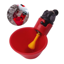 Poultry Water Drinking Cups Automatic Quail Chicken Drinker Plastic Chicken Fowl Drinker Cups Breeding equipment недорого