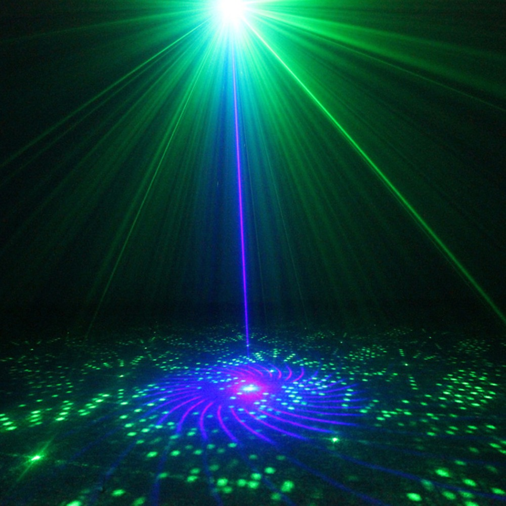 Chims DJ Laser 3 Len 40 Pattern Club GB Laser Blue LED Stage Lighting Home Party Professional Projector Xmas Light Disco Z40GB the latest 2lens 40 pattern laser light for dj disco club party stage lighting effect page 2