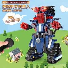 13002 346 шт. набор роботов M2 дистанционного управления модель робота строительные блоки кирпичи развивающие игрушки DIY подарки на день рождения для детей