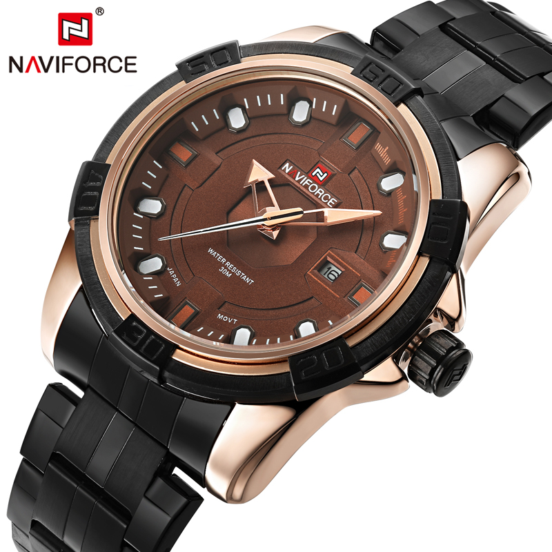 NAVIFORCE Luxury Brand Genuine new sport Analog Display Date Men's Quartz Watch Casual Watch Men Watches relogio masculino naviforce new genuine leather watch men