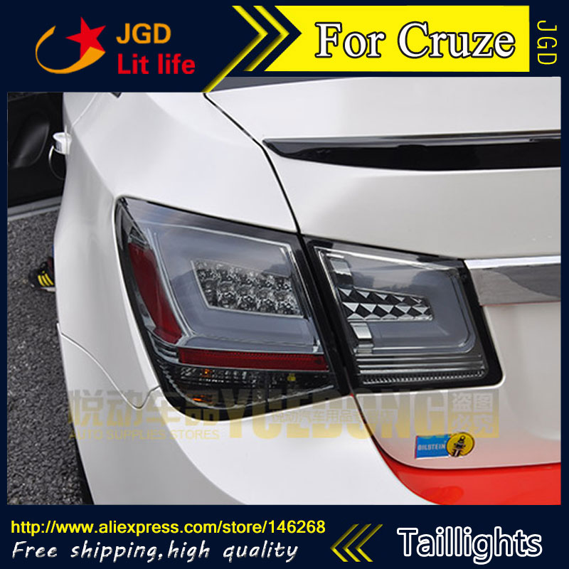 Car Styling tail lights for Chevrolet Cruze 2009-2014 taillights LED Tail Lamp rear trunk lamp cover drl+signal+brake+reverse jgd brand new styling for mitsubishi pajero sport tail lights 2009 2015 led tail light rear lamp led drl singal car lights
