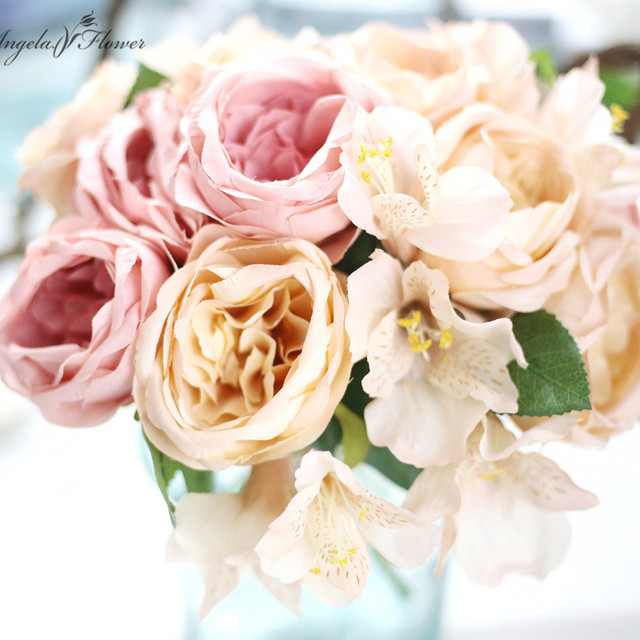 Aliexpress.com : Buy NEW beautiful wedding flower bouquet round rose ...