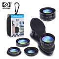 APEXEL 5in1 Kit d'objectif de caméra pour iPhone xiaomi HTC HUAWEI Samsung Galaxy S7/j5 Edge S6/S6 Edge et l'autre SmartPhone Android