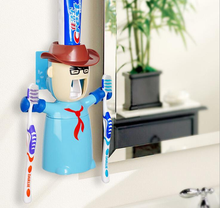 Automatic Toothpaste Dispenser Creative Couple Toothbrush Holder Novelty Households Eco-Friendly Bathroom Set Free Shipping image