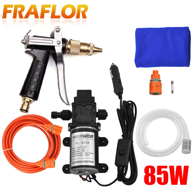 New 85W Frequency Conversion Pump High Pressure Washing Cleaning Machine Portable Copper Water Gun Car Wash