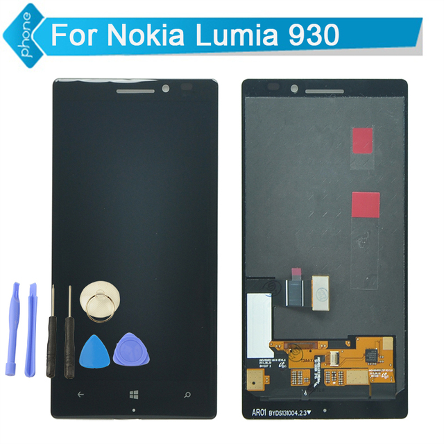 Tested LCD Display Screen For Nokia Lumia 930 lcd with Touch Screen Digitizer Assembly For Lumia 930 +Tools