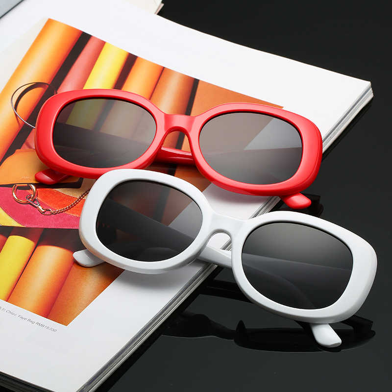 d0e0ac5cf7f3 WOMEN Square novelty sunglasses WOMEN 2018 new hip hop style color lenses  retro glasses summer travel