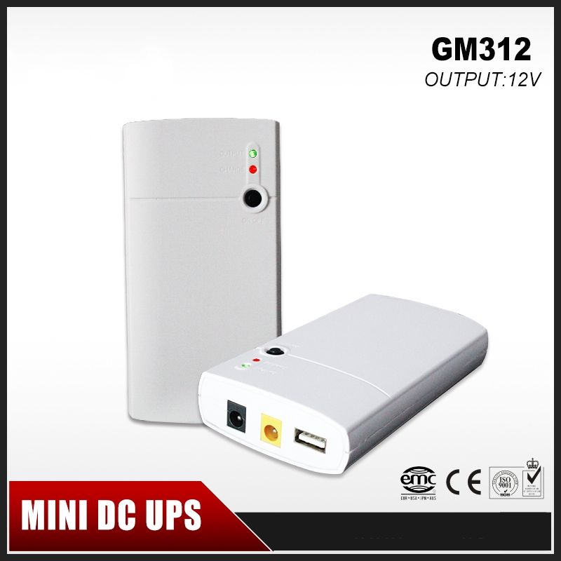 Mini Portable UPS 12V Input & Dual 12V & 5V Output With 7800mAh Lithium Battery for Long Backup Time for CCTV & Modem Equipment
