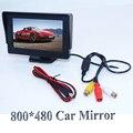 """Nuevo 4.3 """"Color TFT LCD Retrovisor Del Coche Monitores para DVD GPS Inversa de Copia de seguridad Cámara de conducción de Vehículos de accesorios venta caliente"""