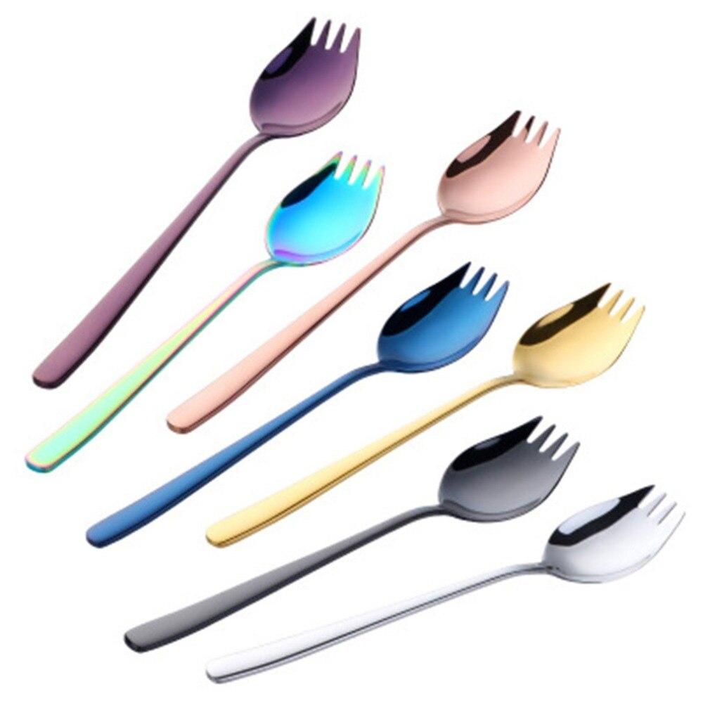 2-в-1, столовая ложка, вилка, многофункциональный Нержавеющая сталь утолщаются, столовая ложка, Кухня гаджет для дома и путешествий