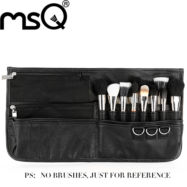 MSQ Professional Empty Makeup Brush Case Super Huge Cosmetic Belt Make-up Storage for Makeup Artist New Product for your beauty