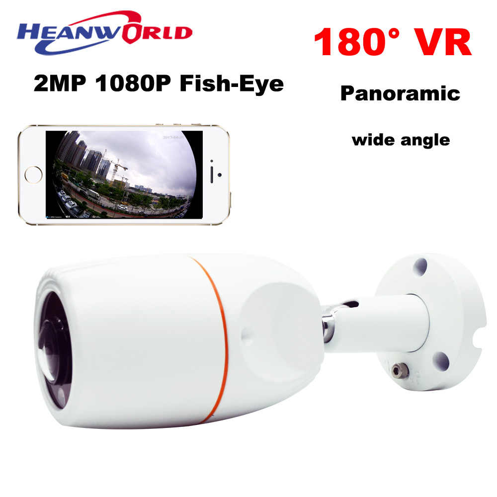 2MP Fish-Eye IP Camera Outdoor 180 degree Wide Angle Lens 1080P HD Security Cameras ONVIF Surveillance Waterproof CCTV Cam P2P