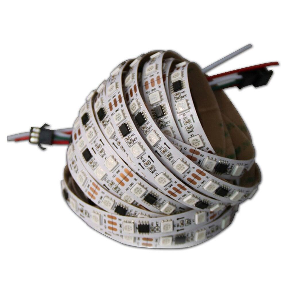 WS2811 sloksnes led lampa 5m ūdensizturīga rgb lente 5050 rgb 30 60 - LED Apgaismojums - Foto 2