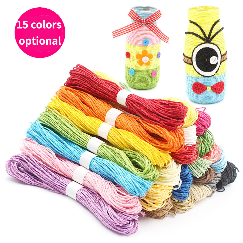 Birthday:  30M Double Stranded Color Paper Rope 2mm Diameter DIY Hand-knit Kindergarten Art Materials Birthday Party Crafts - Martin's & Co