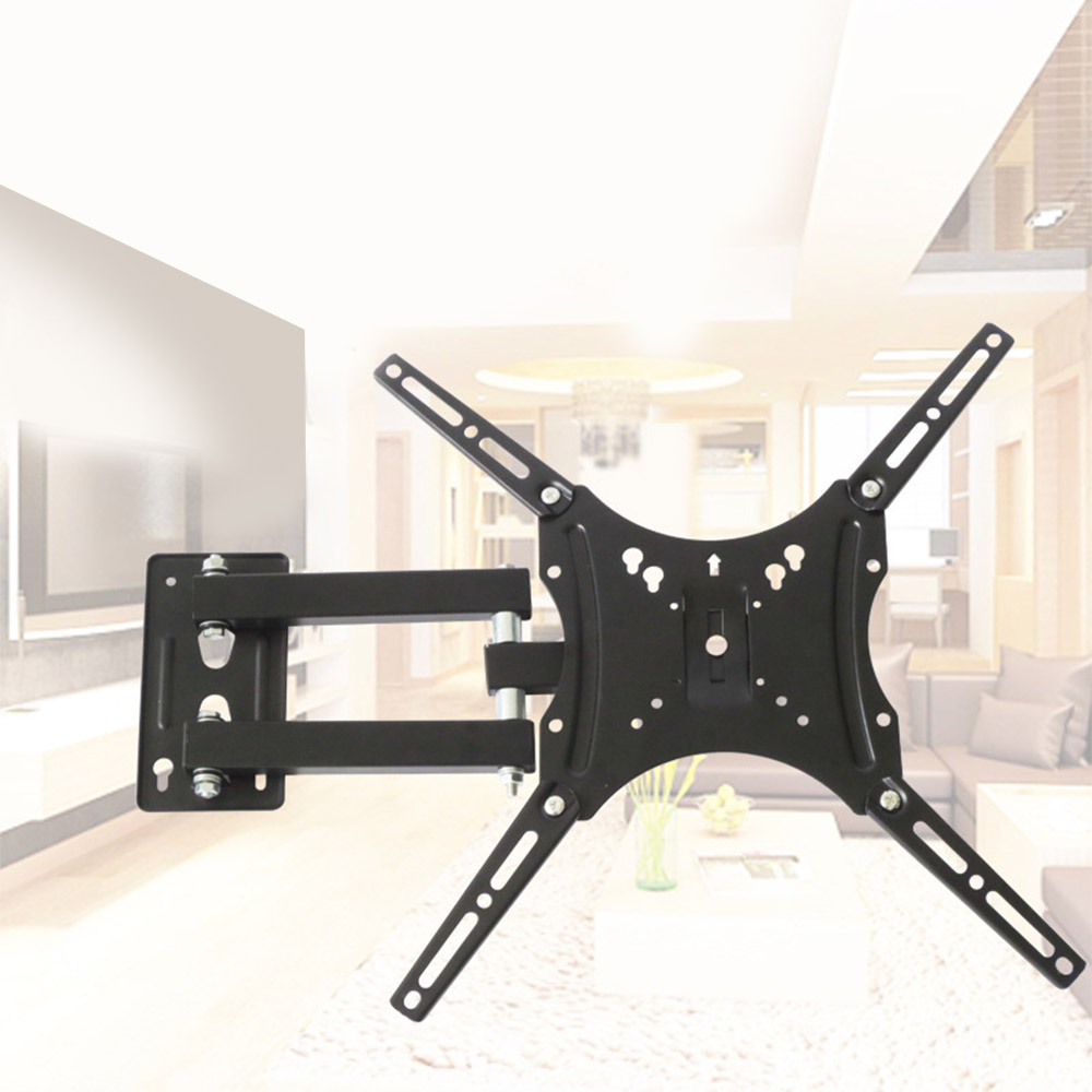 Bracket TV Wall Mount for Most 14-55 LED LCD Plasma Flat Screen Monitor up to 110 lb VESA 400x400 with Full Motion SwivelBracket TV Wall Mount for Most 14-55 LED LCD Plasma Flat Screen Monitor up to 110 lb VESA 400x400 with Full Motion Swivel