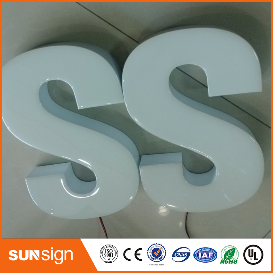 3D Painted  304 Stainless Steel Outdoor Metal Channel Letter