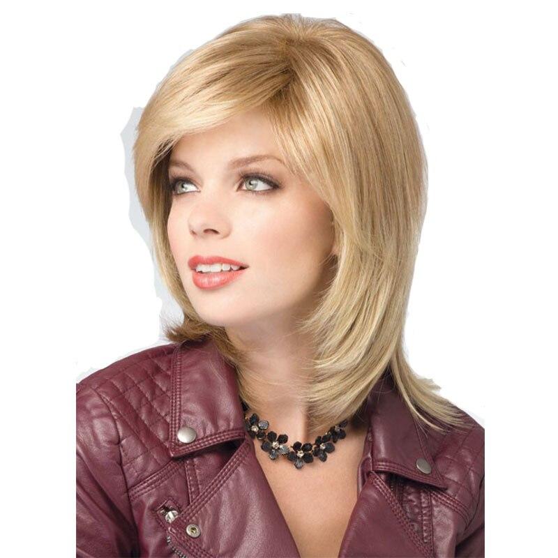 2016 New Arrival Kobiety Złoty Blond średniej Długości