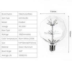 Image 5 - Led lamba E27 futbol yıldızlı gökyüzü led ışık ampul 110V 220V dim lampada led ev/oturma odası/Yatak odası dekoru bombillas led