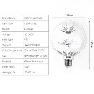 Image 5 - Led lamp E27 FootBall Starry Sky led light bulb 110V 220V Dimmable lampada led for home/living room/bedroom decor bombillas led