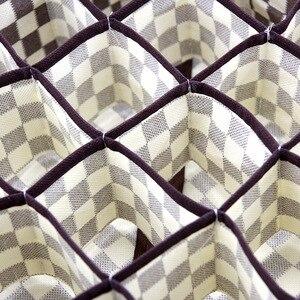 Image 4 - 3 Gấp Gọn Vải Không Dệt Nhà Đồ Lót Hộp Bảo Quản Cho Áo Ngực Buộc Tất Hộp Đựng Ban Tổ Chức Tủ Quần Áo Rút Chia Ngăn