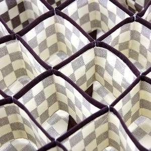 Image 4 - Caja de almacenamiento para ropa interior de casa, 3 uds., plegable, no tejida, para sujetar calcetines, organizador de contenedores, divisores de dibujo de armario