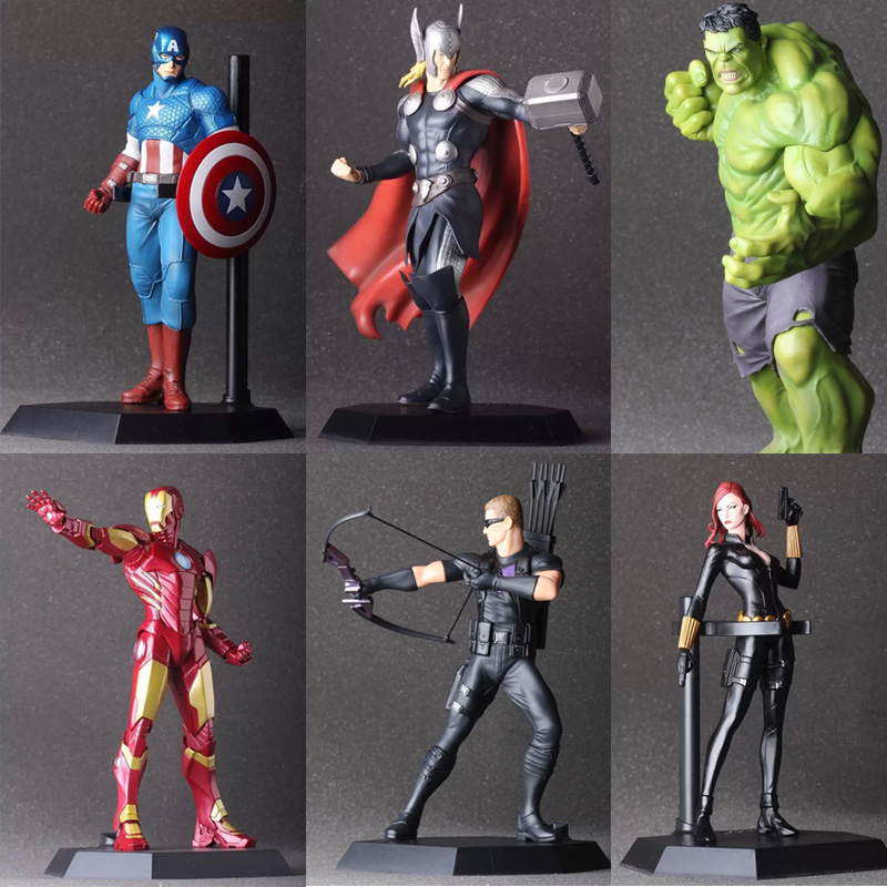 Avengers Superhero Hulk Iron Man Hawkeye Thor DC Wolverine Green Arrow PVC X-Man Deadpool Action Figure Model Collection Toy