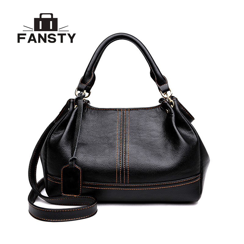 Real Sheep Women 2018 New Fashion Handbag Casual Crossbody Bags Hobos Shoulder Bag Genuine Leather Europe Female Large Tote Bag домашняя и магия этикета