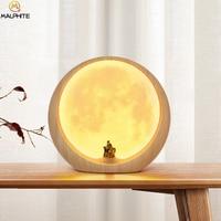 Novel LED Moon Lamp Table Light USB Charging Touch Switch Moonlight Desk Lamp Bedroom Bedside Lamp Home Decor Lighting Fixtures