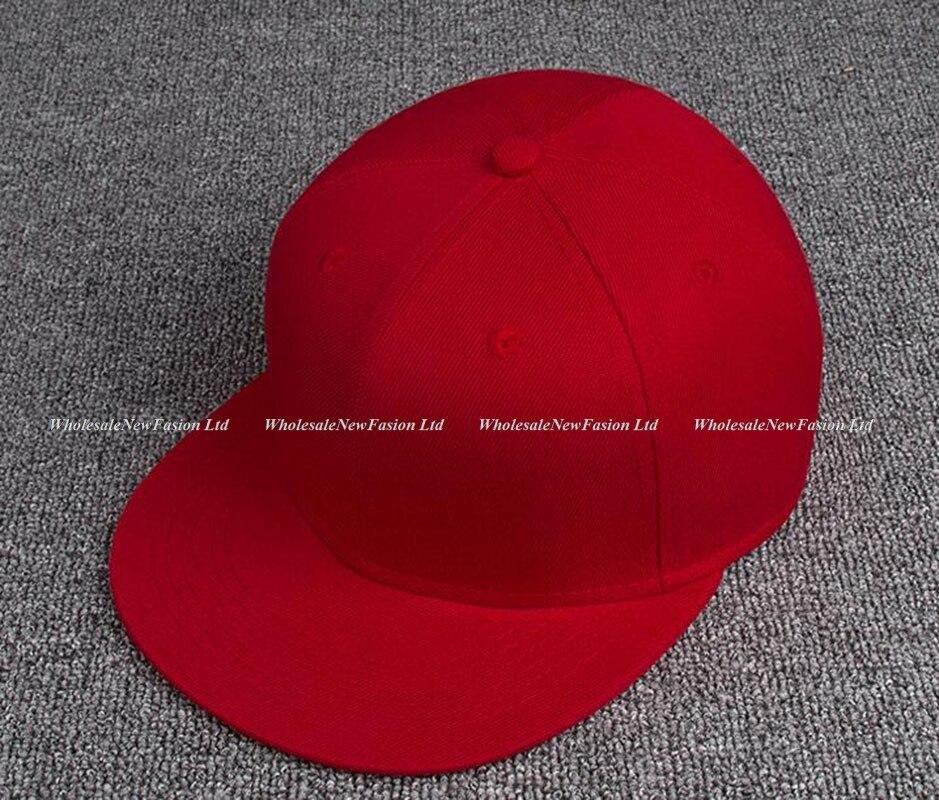 d7771875396 Wholesale 6pcs Men Blank Flat Bill Snap Back Hat for Spring Women Plain  Solid Color Caps Summer Sport Snap Backs Baseball Hats-in Baseball Caps  from Apparel ...