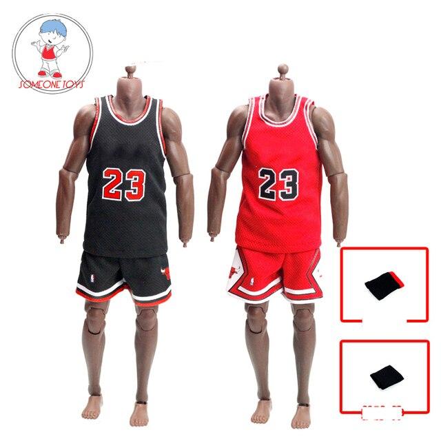 1/6 مقياس الذكور الرياضة البدلة كرة السلة ستار الملابس مجموعة الرجال جيرسي لمدة 12 بوصة الذكور عمل الشكل دمية