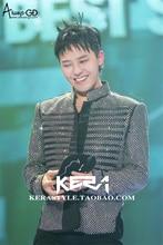 Male singer EXO 2016 new shiny silver stitching leather collar jacket men's fashion leather jacket nightclub costumes VSTINUS