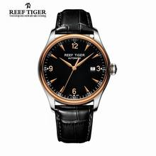 Best Selling Reef Tiger /RT Watches Automatic Men Dress Watch Stainless Steel Rose Gold Watches with Date Free Shipping RGA823