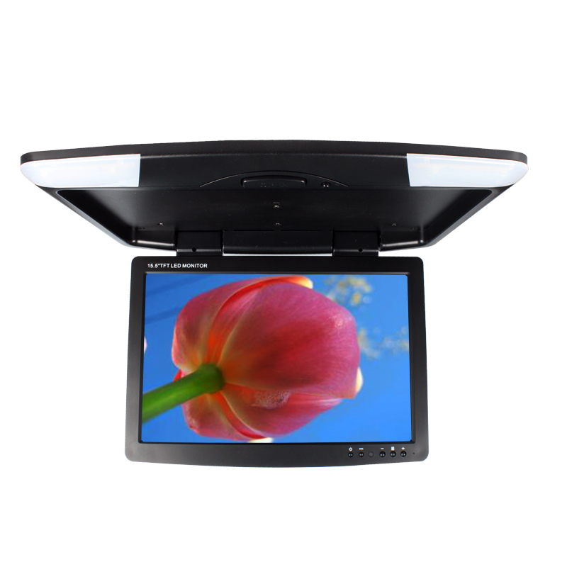DC12V-24V 17.5 Inch Car/Bus TFT LCD Car Roof Mounted Flip Down Overhead Monitor 2 Way Video Inputs 1708-4