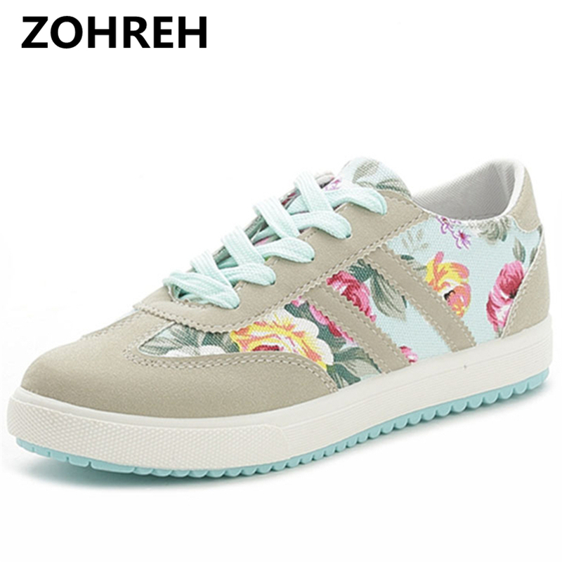 ZOHREH 2018 Women casual shoes printed casual shoes women canvas shoes tenis feminino 2018 new arrival fashion women sneakers