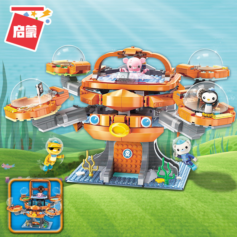 Octonauts Building Block Octo-Pod Octopod Playset & Barnacles Kwazii Peso Inkling 698pcs Educational Bricks Toy For Bo(China)
