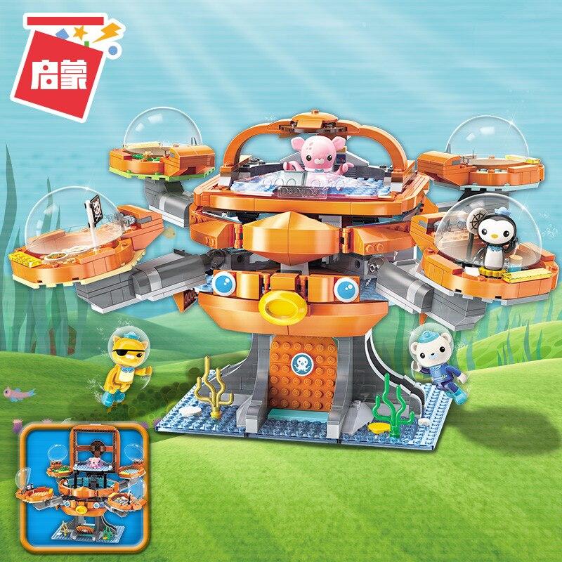 Octonauts Building Block Octo-Pod Octopod Playset & Barnacles kwazii peso Inkling 698pcs Educational Bricks Toy For Bo ingco