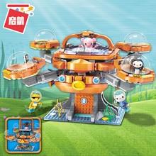 Octonauts Building Block Octo-Pod Octopod Playset & Barnacles kwazii peso Inkling 698pcs Educational Bricks Toy For Bo