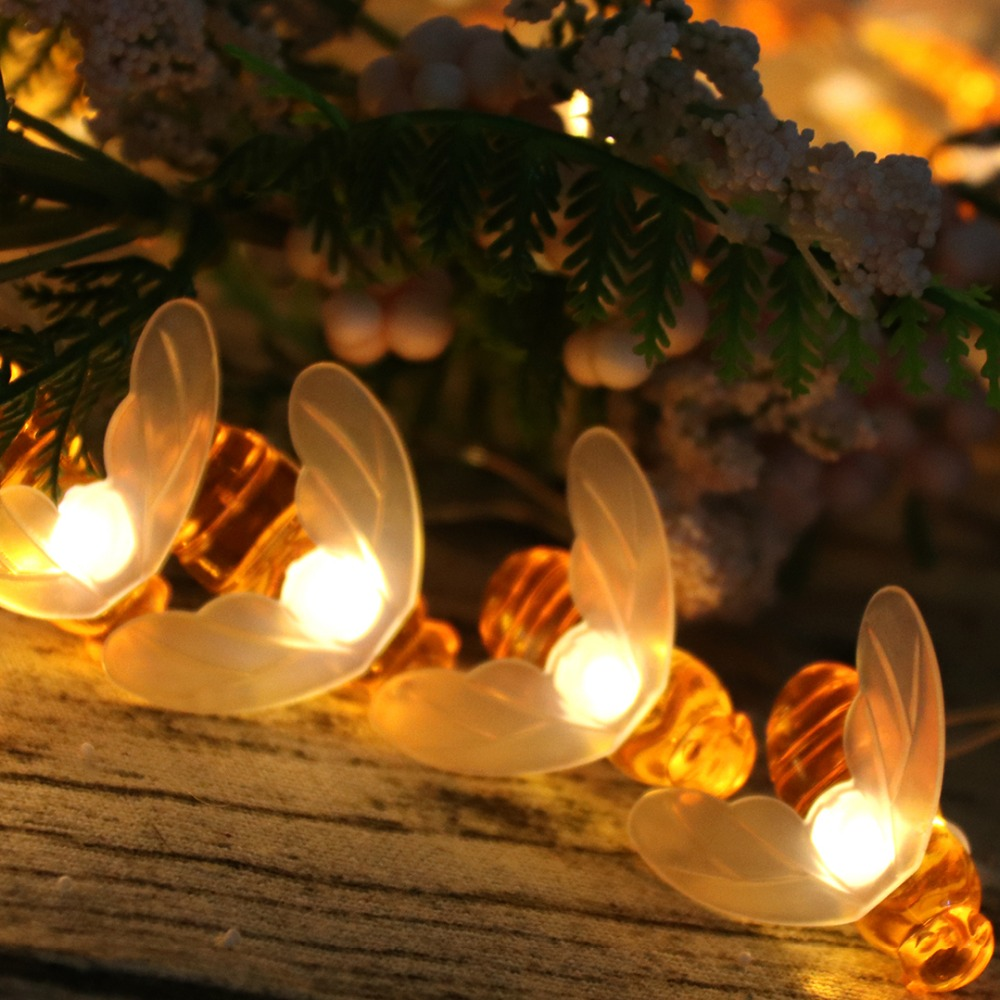 Творчески 10 LED Bee Shape Светещи Фарове - Празнично осветление - Снимка 3