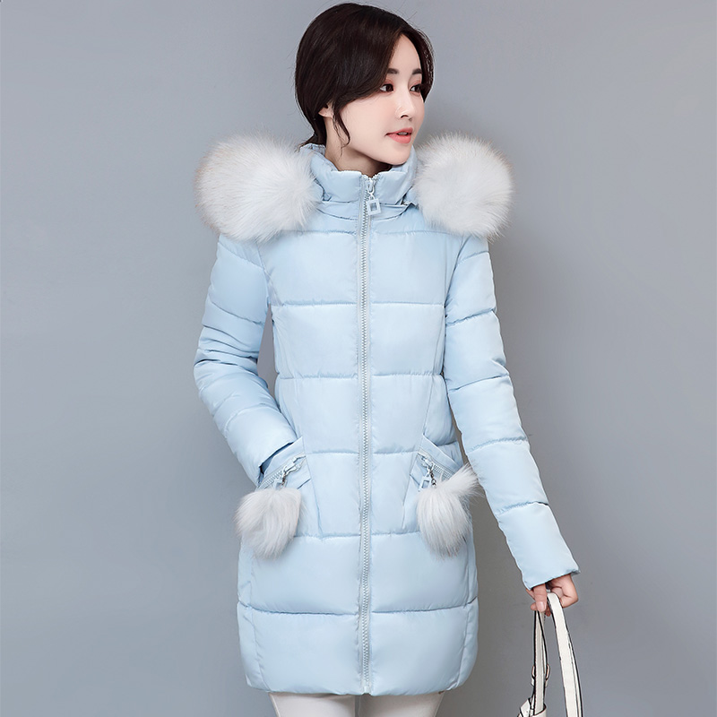 Warm Hooded Women Winter Overcoats Fashion Thickening Large Fur Collar Winter Jacket Women Slim Parkas Female Plus Size S-3XL 3xl 4xl 2016 winter jacket women parkas plus size hooded long coat parkas with real fur collar thickening female warm clothes