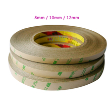 50M/Roll  8mm 10mm 12mm Double Sided Tape 3M Adhesive Tape for 3528 5050 ws2811 Led strips double sided duct tape 50m heat resistance tape mounting tape width 12mm