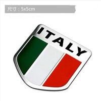 10pcs 3d Aluminum Italy Map National Flag Car Sticker Car Styling For Fiat Iveco Lamborghini Alfa