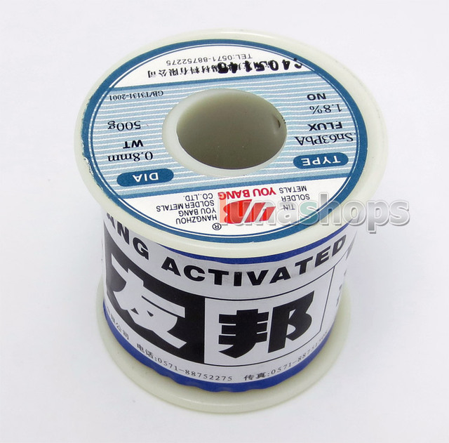 0.5kg YouBang 0.8mm Sn63PbA 63/37 Tin Lead Soldering Solder Wire Rosin Core Weldring Welder