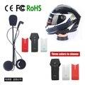 Envío gratis! marca Bluetooth moto de la motocicleta del casco de Bluetooth impermeable Intercom Headset alta calidad soporte NFC Tech